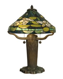 Dale Tiffany 2 bulb Table Lamps with Dark Antique Bronze Verde finish - TT10032