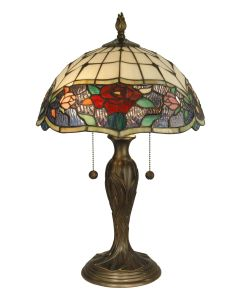 Dale Tiffany 2 bulb Table Lamps with Antique Bronze finish - TT10211