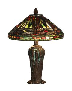 Dale Tiffany 2 bulb Table Lamps with Antique Bronze/Verde finish - TT10333