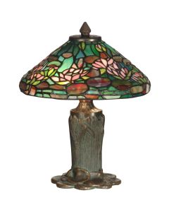 Dale Tiffany 2 bulb Table Lamps with Antique Bronze/Verde finish - TT10334