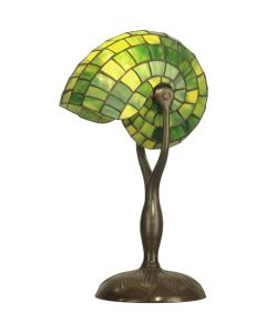 Dale Tiffany 1 bulb Table Lamps with Antique Bronze/Verde finish - TT10345