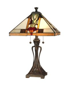 Dale Tiffany 2 bulb Table Lamps with Antique Bronze finish - TT10533
