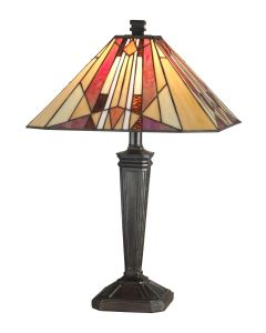 Dale Tiffany 1 bulb Table Lamps with Mica Bronze finish - TT10823