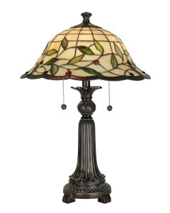 Dale Tiffany 2 bulb Table Lamps with Mica Bronze finish - TT60574