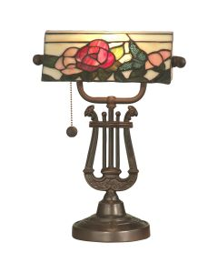 Dale Tiffany 1 bulb Desk Lamps with Antique Bronze finish - TT90186