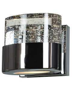 Access Lighting 23925LEDDLP-CH/CLR Bubbles 1 Light Solid Crystal LED Vanity with OPL Glass Downlight