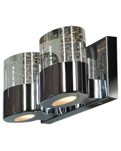 Access Lighting 23926LEDDLP-CH/CLR Bubbles 2 Light Solid Crystal LED Vanity with OPL Glass Downlight
