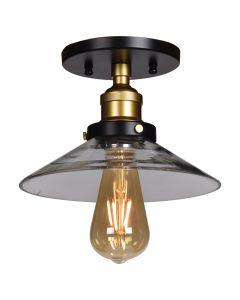 Access Lighting 24001LEDDLP-BGL/CLR The District 1 Light Retro Semi Flush Mount