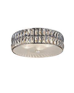 Access Lighting 62355LEDD-MSS/CRY Magari 1 Light Crystal Flush Mount