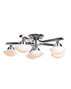 Access Lighting 62496LEDD-CH/OPL Atomiser 6 Light LED Semi Flush Mount