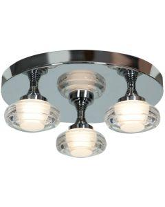 Access Lighting 63978LEDD-CH/ACR Optix 3 Light LED Flush Mount