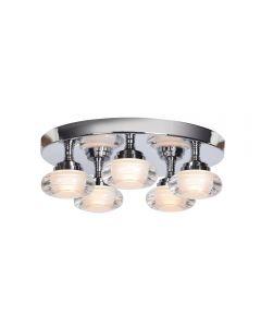 Access Lighting 63979LEDD-CH/ACR Optix 5 Light LED Flush Mount