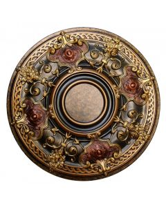 FAD Hand Painted Ceiling Medallion, 28 1/8 in. Finished in Bronze, Gold and Copper (LPCCMF-035-2)