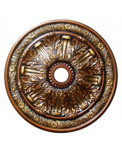 FAD Hand Painted Ceiling Medallion, 30 in. Finished in Bronze, Gold and Copper (LPCCMF-036-2)
