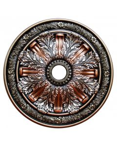 FAD Hand Painted Ceiling Medallion, 30 in. Finished in Ivy,Gold,Copper Penny (LPCCMF-036-3)