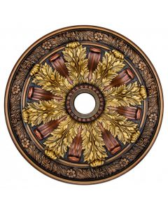 FAD Hand Painted Ceiling Medallion,30 in. Finished in Bronze, Gold and Copper (LPCCMF-036)