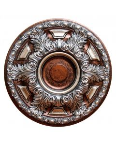 FAD Hand Painted Ceiling Medallion, 23 5/8 in. Finished in Silver, Copper and Warm Silver (LPCCMF-048-2)