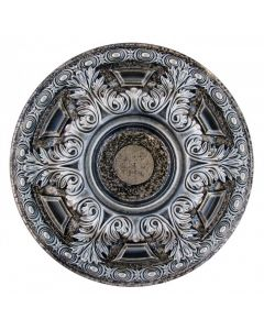 FAD Hand Painted Ceiling Medallion, 23 5/8 in. Finished in Silver and Warm Silver (LPCCMF-048-3)
