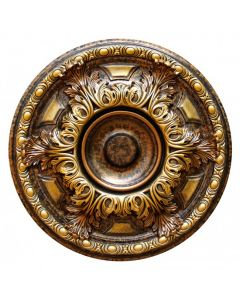 FAD Hand Painted Ceiling Medallion,19 in. Finished in Bronze and Gold (LPCCMF-048-A)