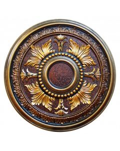 FAD Hand Painted Ceiling Medallion,30 5/8 in. Finished in Bronze, Gold. Copper and Brass (LPCCMF-081)
