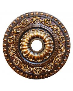 FAD Hand Painted Ceiling Medallion, 23 5/8 in. Finished in Bronze, Gold and Copper (LPCCMF-099)