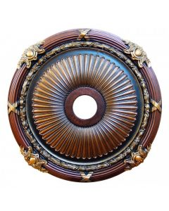 FAD Hand Painted Ceiling Medallion, 27 1/2 in. Finished in Bronze, Gold, Copper and Brass (LPCCMF-102)