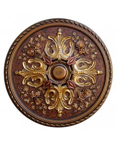 FAD Hand Painted Ceiling Medallion, 32 3/4 in. Finished in Bronze, Gold and Copper (LPCCMF-106)