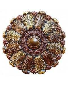 FAD Hand Painted Ceiling Medallion, 31 1/2 in. Finished in Bronze, Gold and Copper (LPCCMF-107)
