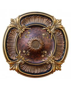 FAD Hand Painted Ceiling Medallion, 30 in. Finished in Bronze, Gold and Copper (LPCCMF-111)