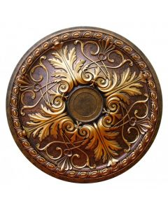 FAD Hand Painted Ceiling Medallion, 26 1/4 in. Finished in Bronze and Gold (LPCCMF-112-A)