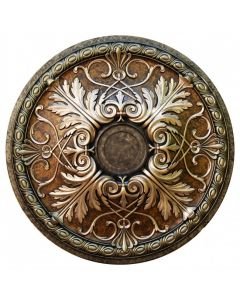 FAD Hand Painted Ceiling Medallion, 26 1/4 in. Bronze, Ivy and Warm Silver (LPCCMF-112-3A)