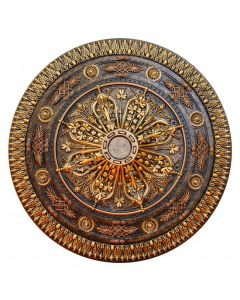 FAD Hand Painted Ceiling Medallion, 37 1/2 in. Finished in Bronze and Gold (LPCCMF-117)