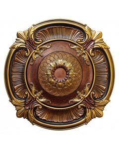 FAD Hand Painted Ceiling Medallion, 40 in. Finished in Bronze, Gold and Copper (LPCCMF-119)