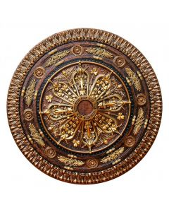 FAD Hand Painted Ceiling Medallion, 37 1/2 in. Finished in Bronze, Gold and Copper (LPCCMF-116-2)