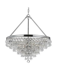 Crystorama 136 Calypso 6 Light Chandelier