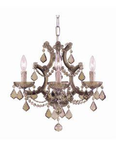 Crystorama 4474 Maria Theresa 4 Light Mini Chandelier