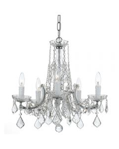 Crystorama 4576 Traditional Crystal 5 Light Chandelier