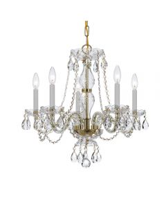 Crystorama 5085 Traditional Crystal 5 Light Chandelier