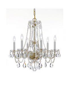 Crystorama 5086 Traditional Crystal 6 Light Chandelier