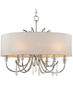 Crystorama 6036-PN-CL-MWP Cody 6 Light Chandelier
