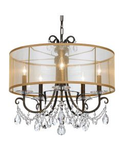 Crystorama 6625 Othello 5 Light Chandelier