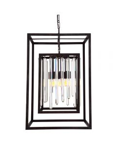 Crystorama 8409-FB Hollis 8 Light Chandelier