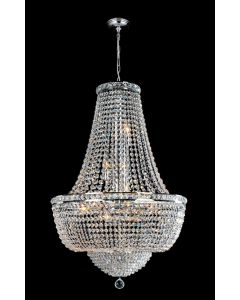 Lighting Paradise ILF1004/3L/CH 12 Light Crystal Chandelier