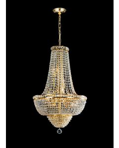 Lighting Paradise ILF1004/12L/GD 18 Light Crystal Chandelier