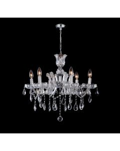 Lighting Paradise ILF2022/6L/GD 6 Light Crystal Chandelier