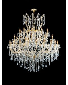 Lighting Paradise ILF2035/40+1/GLD 41 Light Crystal Chandelier