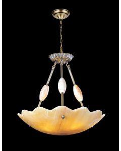 Lighting Paradise ILFA1004 3 Light Alabaster Chandelier