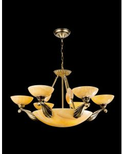Lighting Paradise ILFA1106-8L 6 Light Alabaster Chandelier