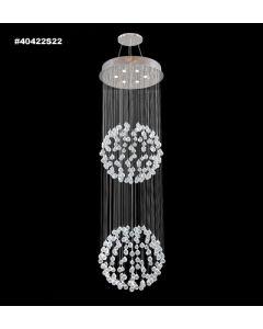 James R Moder 40422S22 Crystal Rain 6 Light Chandelier