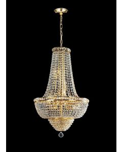 Lighting Paradise ILF1004/12L Gold 12 Light 24K Plated Hanging Chandelier